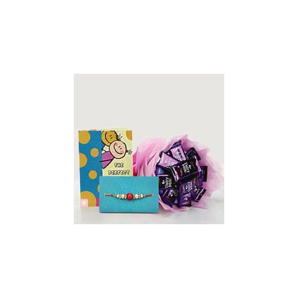 Chocolates and a Rakhi Greeting Card