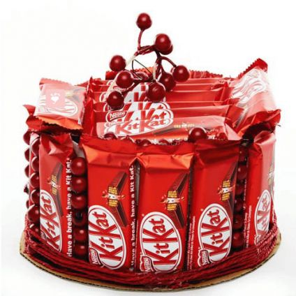 Basket of Kitkat