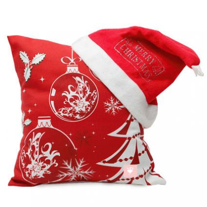 Christmas cushion and Cap