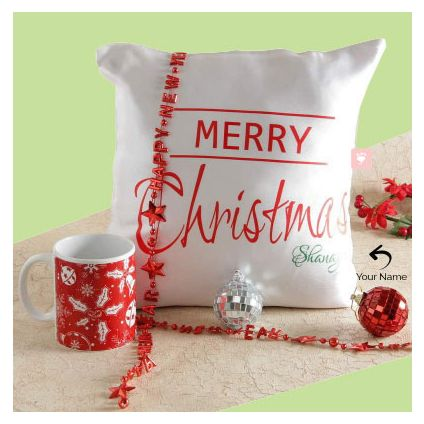 Personalized Pillow And Mug with 2 ball