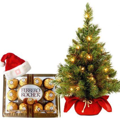 24 Pcs Ferrero Rocher And Big Christmas Tree