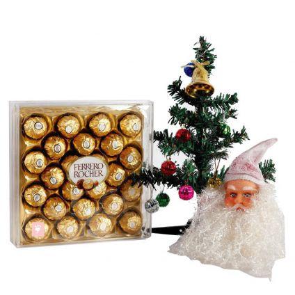Chosolate, Christmas Tree with Santa face
