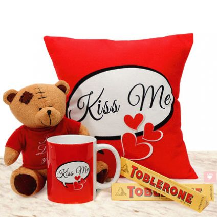 Cushion, Mug and Teddy