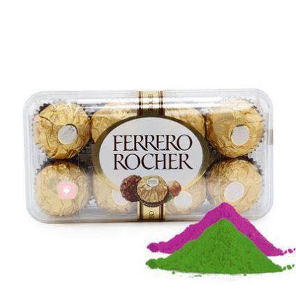 Ferrero Rocher 16 pcs with Gulal