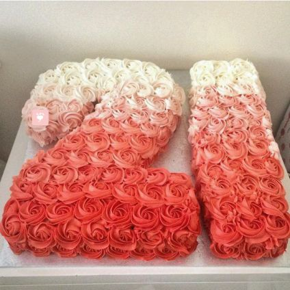 Floral Touch Fondant Cake