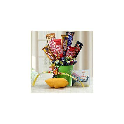 Mug, Rakhi with Chocolates,