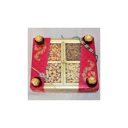 Mixed Dry fruits,Ferrero Rocher Chocolates ,Rakhi