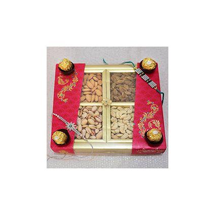 Mixed Dry fruits,Ferrero Rocher Chocolates ,Rakhi