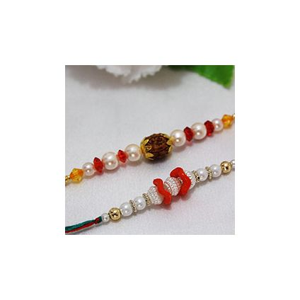 Beautiful Pearl Rakhi Combo