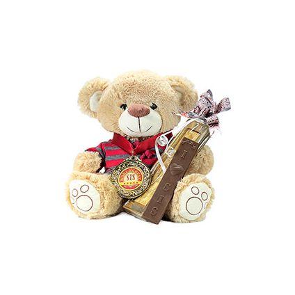 Cute Teddy Bear With Chocolate