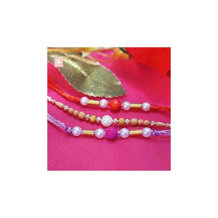 Set of 3 Pearl Rakhis