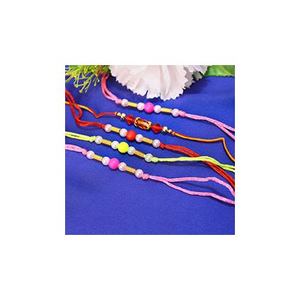 5 Colorful Pearly Rakhi