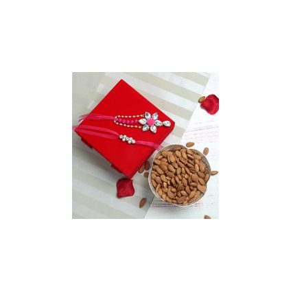 Lumba N Rakhi Set,Almonds 250gms