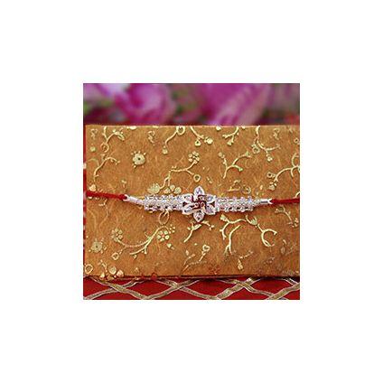 Silver Sparkling Rakhi