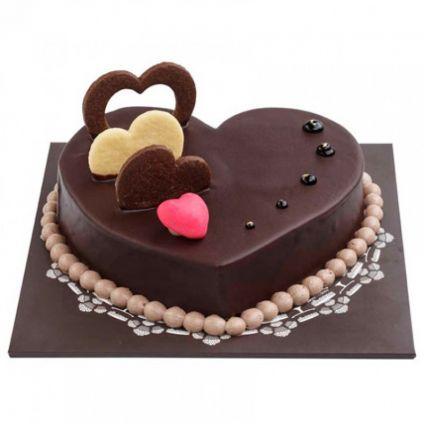 Five Star heart shape chocolates Cakes