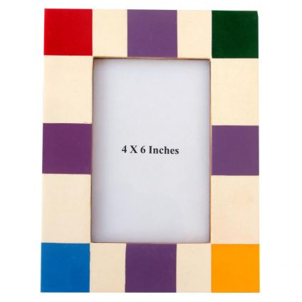Multicolor Wooden Photo Frame
