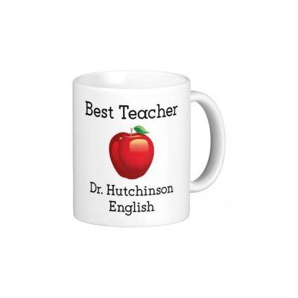 Personalised Best Subject Teacher Mug