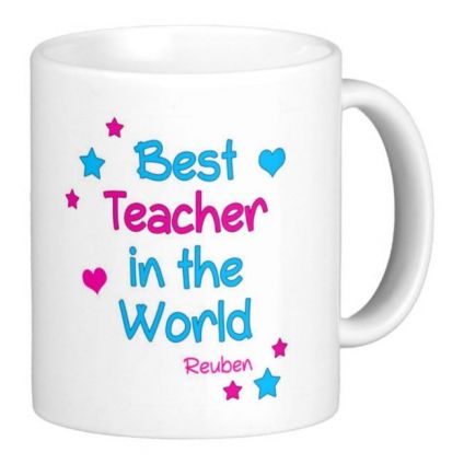Personalised Best Teacher In The World Mug