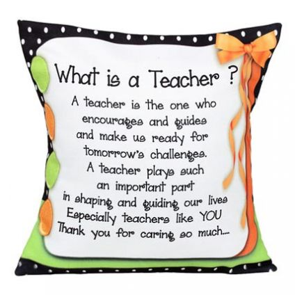 Teachers Message Cushion