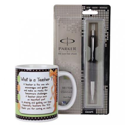 Teachers Day Mug  with Parker pen