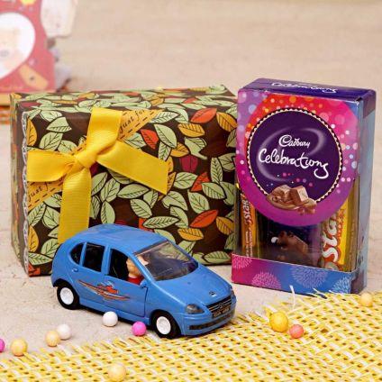 Indica Toy Car With Cadbury Celebration Chocolates