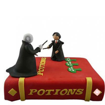 Harry Potter and Voldemort Cake