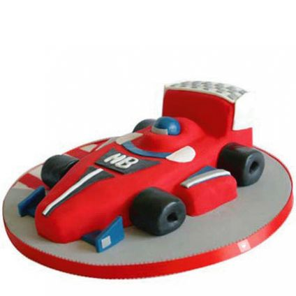 Racing car design Cake