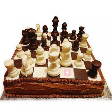 Chess design Chocolate Cake