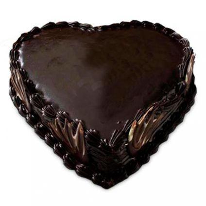 Heart Shape Truffle dark chocolate cake