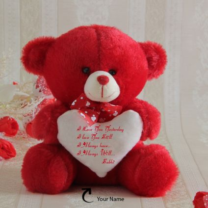 Name Personalized Red Teddy