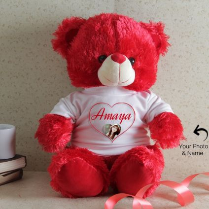 Name And Photo Personalized Teddy
