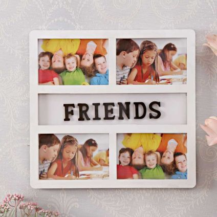 4 In 1 FRIENDS White Frame : Personalized Collage Frames