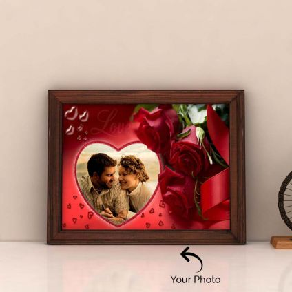 Hearts & Roses Personalized Frame