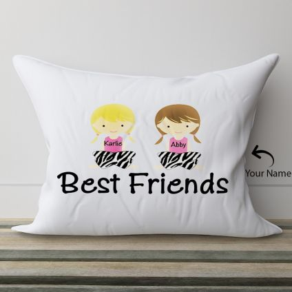 Best Friends Names Personalized Pillow