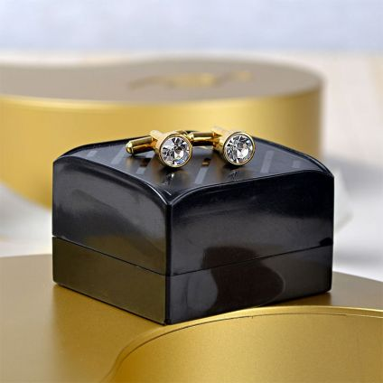 Awesome Stone Studded Cufflinks In A Box