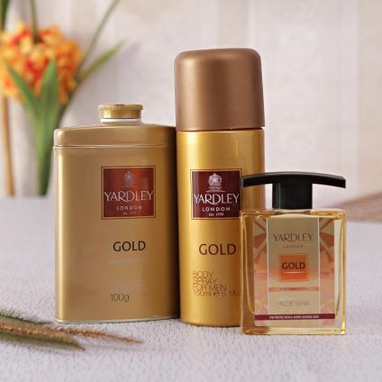 Yardley Gold Talc Deo And Aftershave