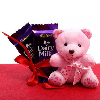 Cadbury Dairy milk with 6 inch teddy bear