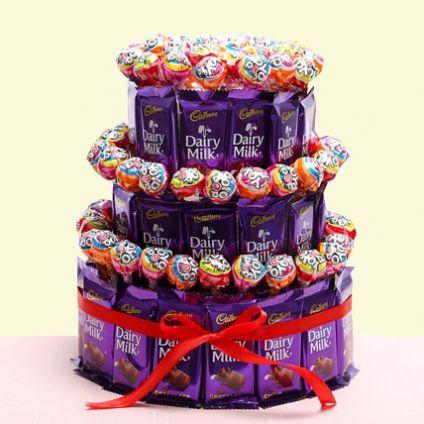 Exclusive 3-tier chocopop cake