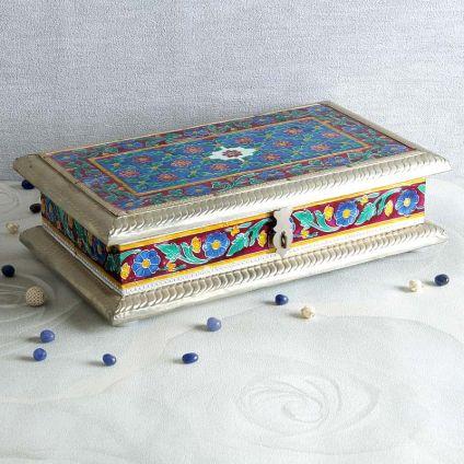 Treasure Trove : White Metal Jewelry Box