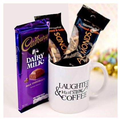 Dairy Milk With Mug Full Of Almond