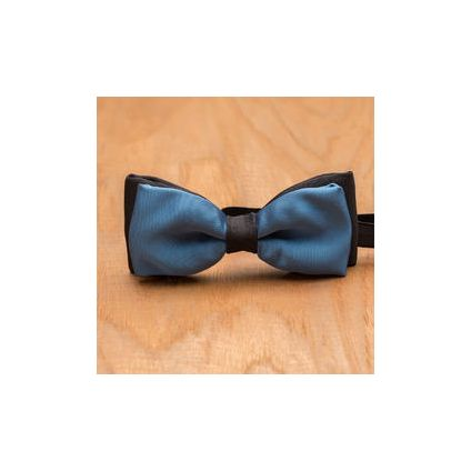 Blue and Black Double Bow