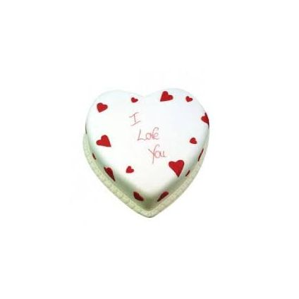 Eggless Heart Shape Vanilla Cake