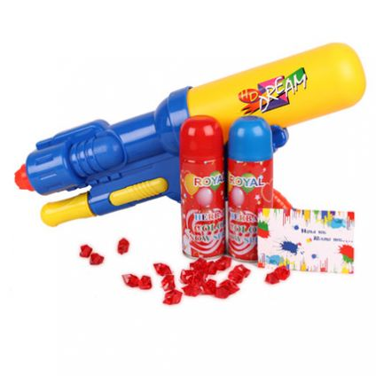 Water gun with colour