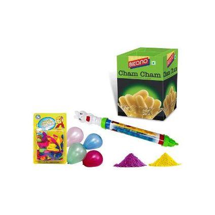 500 grams Sweets, Gulal, Pickari and Balloon