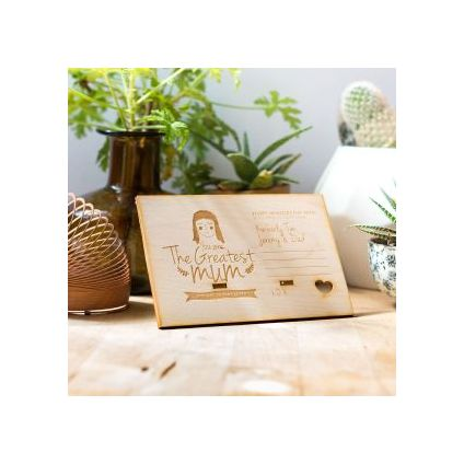 Greatest Mum Personalized wooden board