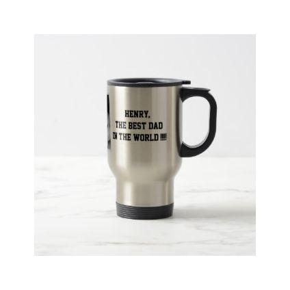 Best dad of the world steel mug