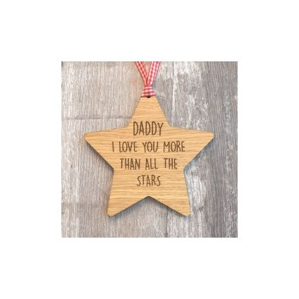 Love you more than stars wooden Plaque