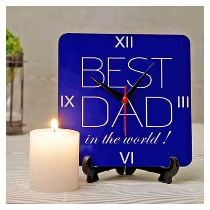 Best Dad Clock with Pillar