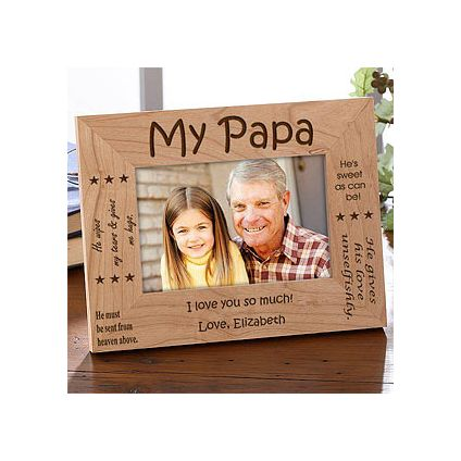 My Papa Wooden Fathers Day Photo Frame