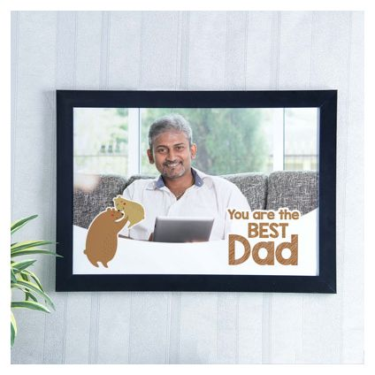 Best Dad personalized photo frame